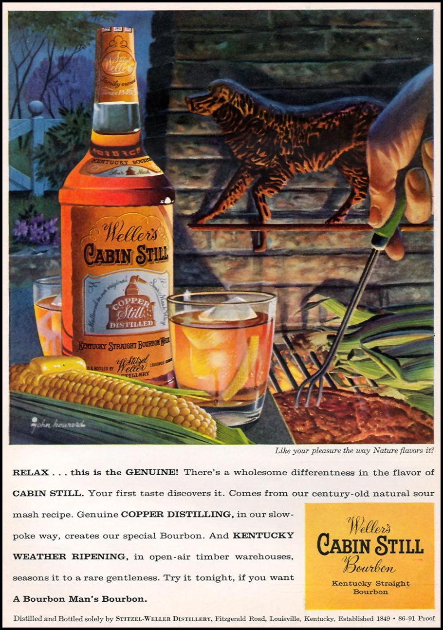 WELLER'S CABIN STILL BOURBON SPORTS ILLUSTRATED 04/27/1959 p. 56