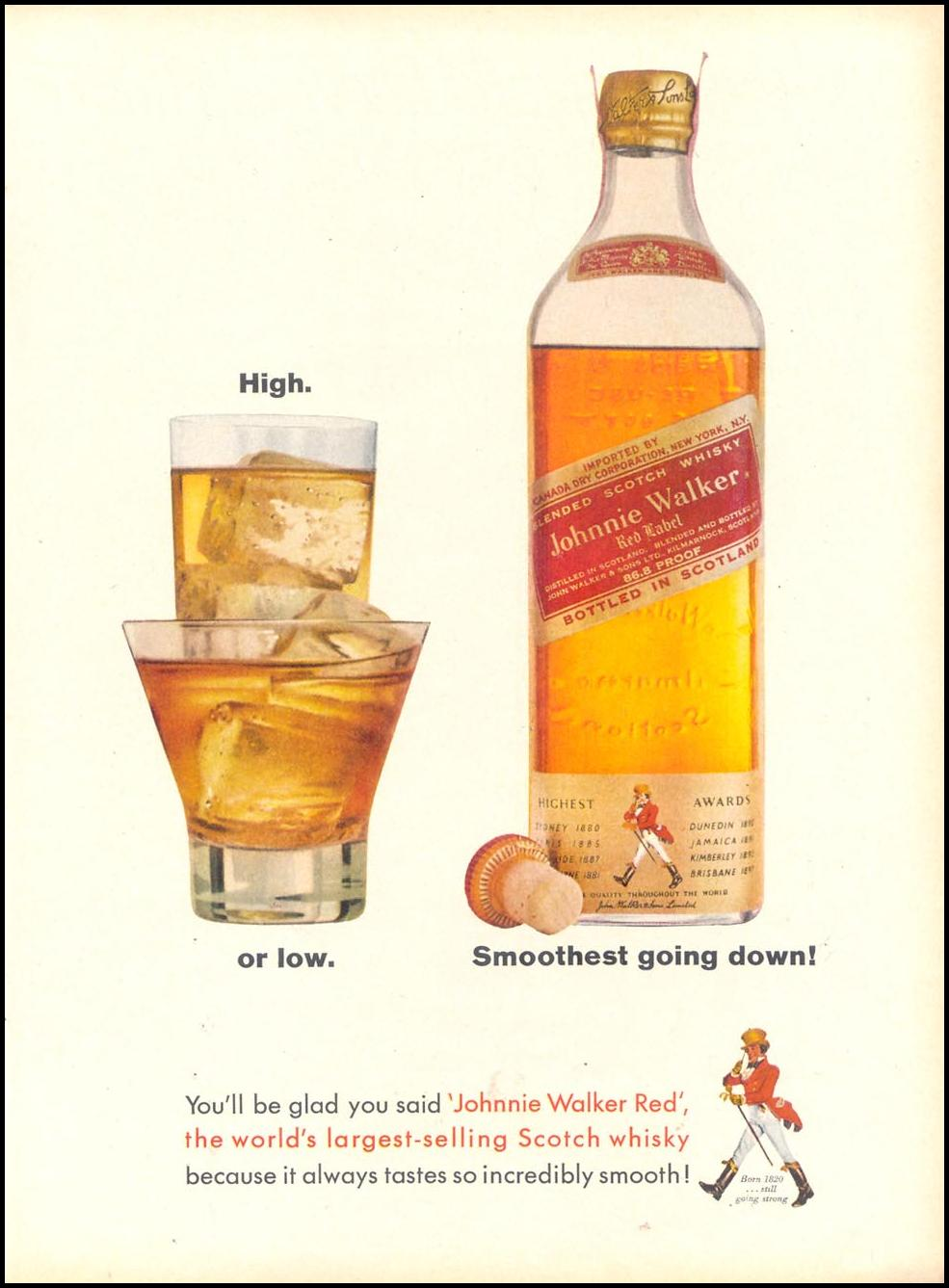 JOHNNIE WALKER SCOTCH WHISKEY TIME 02/01/1963 p. 51