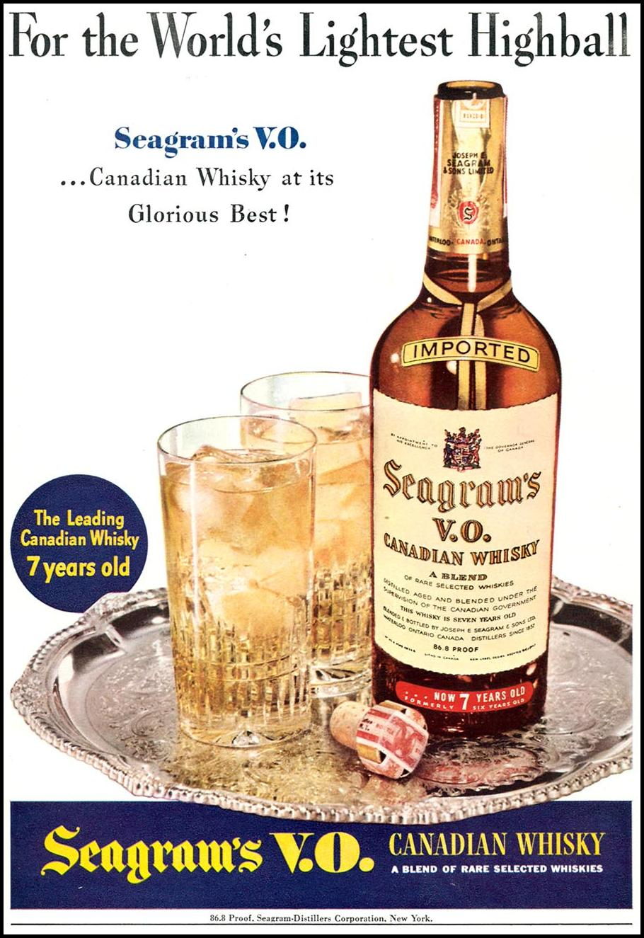 SEAGRAM'S V. O. CANADIAN WHISKY TIME 02/16/1942 p. 45
