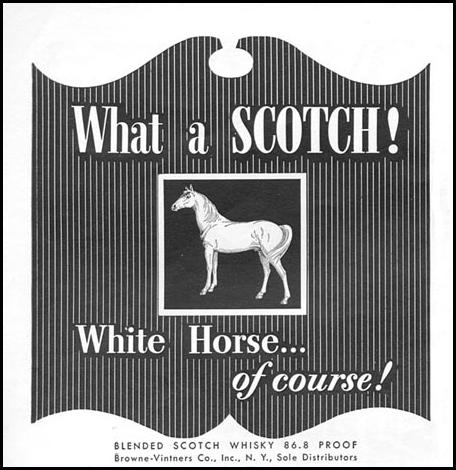 WHITE HORSE BLENDED SCOTCH WHISKY TIME 06/08/1953 p. 62