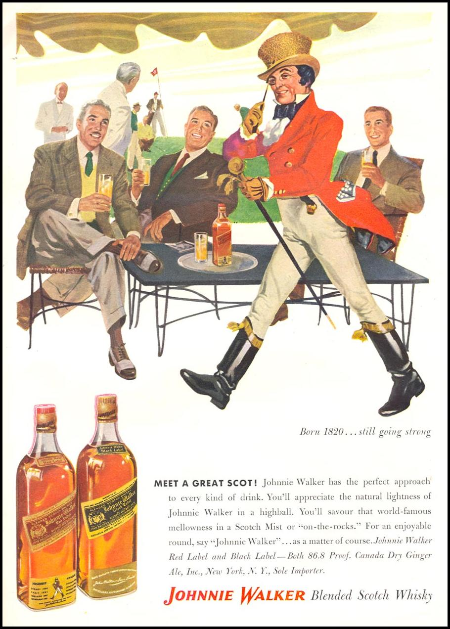 JOHNNIE WALKER SCOTCH WHISKEY TIME 06/08/1953 p. 109