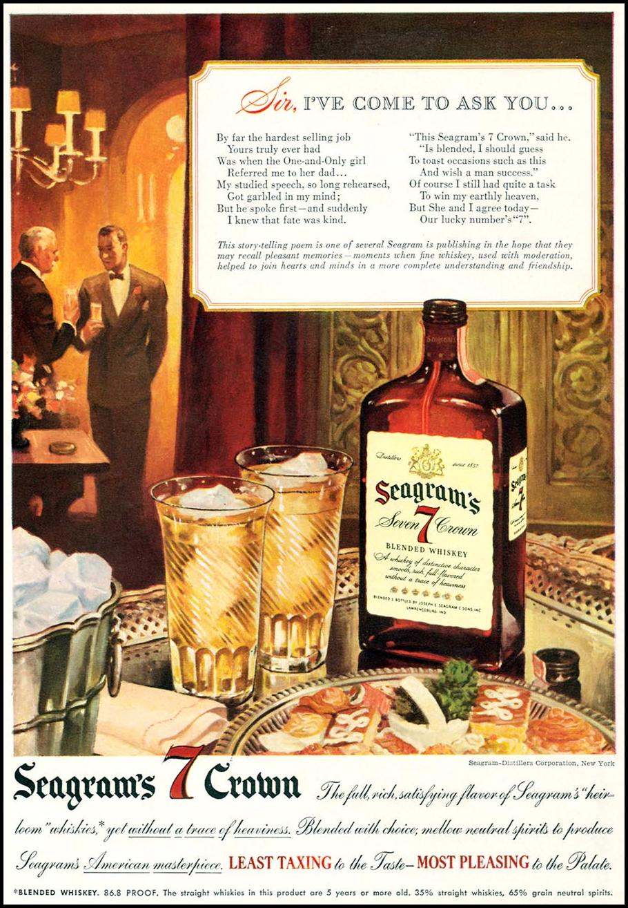 SEAGRAM'S 7 CROWN WHISKEY TIME 06/15/1942 p. 22