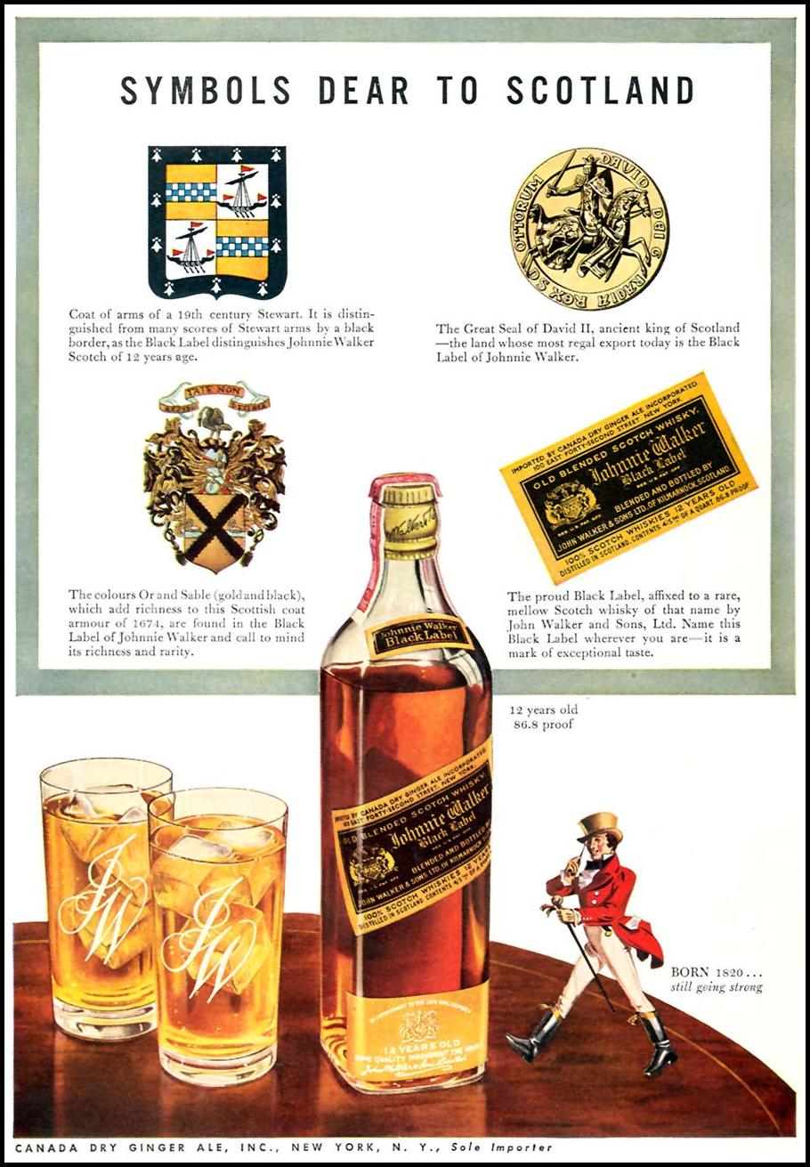 JOHNNIE WALKER SCOTCH WHISKEY TIME 06/15/1942 p. 68