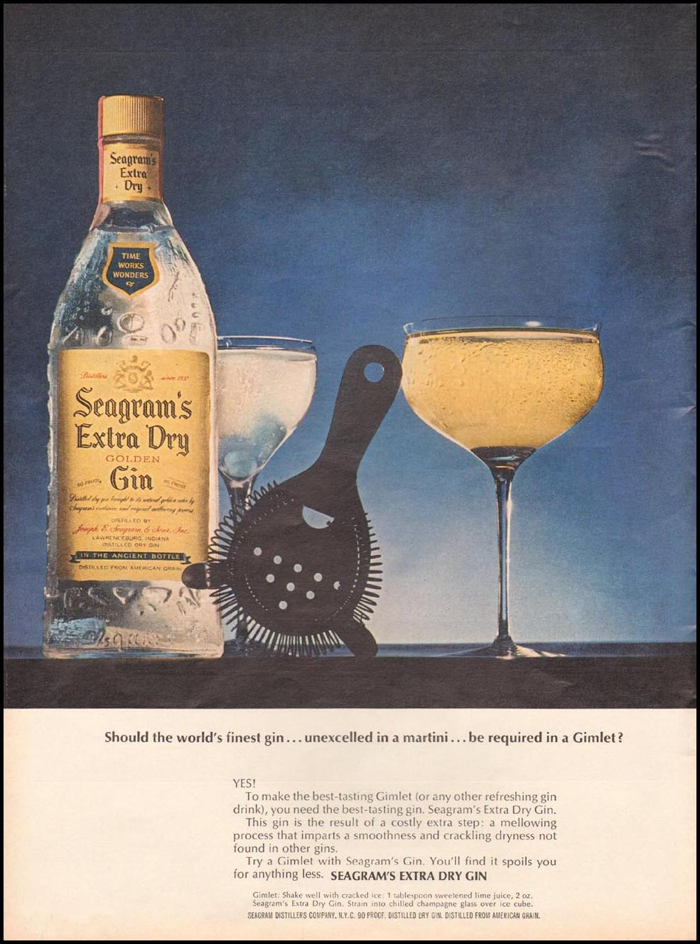 SEAGRAM'S EXTRA DRY GIN TIME 10/04/1963 p. 26