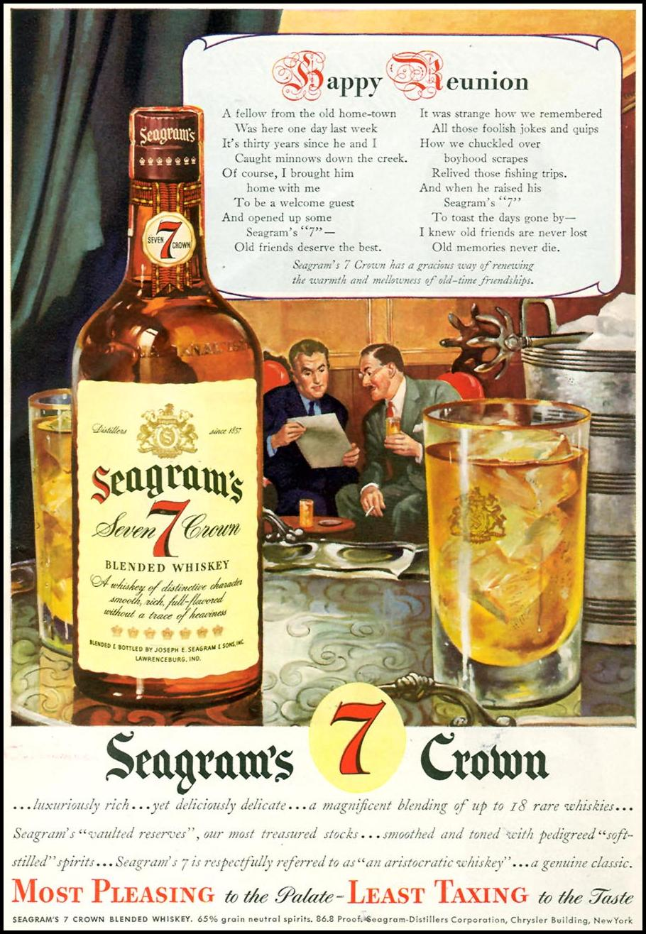 SEAGRAM'S 7 CROWN WHISKEY TIME 11/02/1942 p. 34
