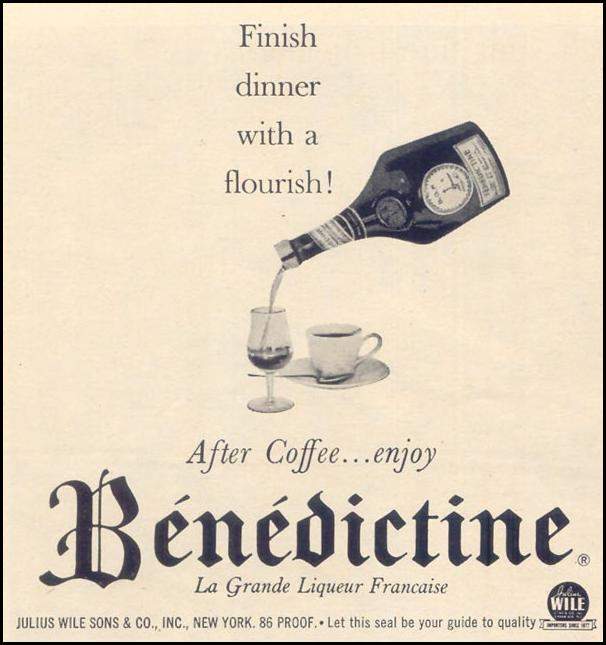 BENEDICTINE LIQUEUR TIME 11/17/1961 p. 96