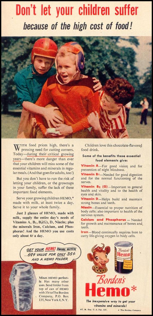BORDEN'S HEMO WOMAN'S DAY 11/01/1948 p. 26