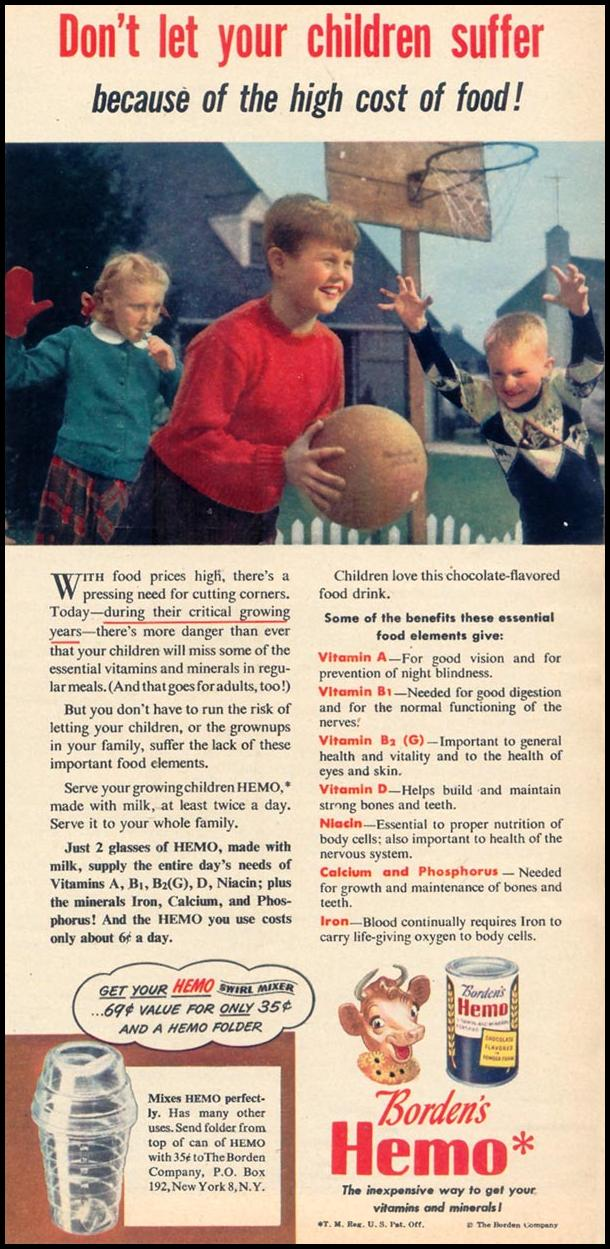 BORDEN'S HEMO WOMAN'S DAY 11/01/1948 p. 111