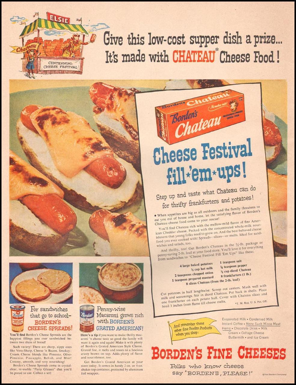 BORDEN'S FINE CHEESES LIFE 10/01/1951