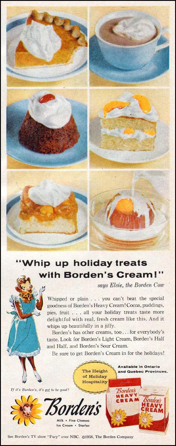 BORDEN'S HEAVY CREAM LIFE 11/24/1957