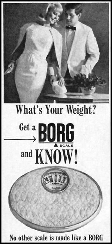 BORG SCALES GOOD HOUSEKEEPING 10/01/1965 p. 254