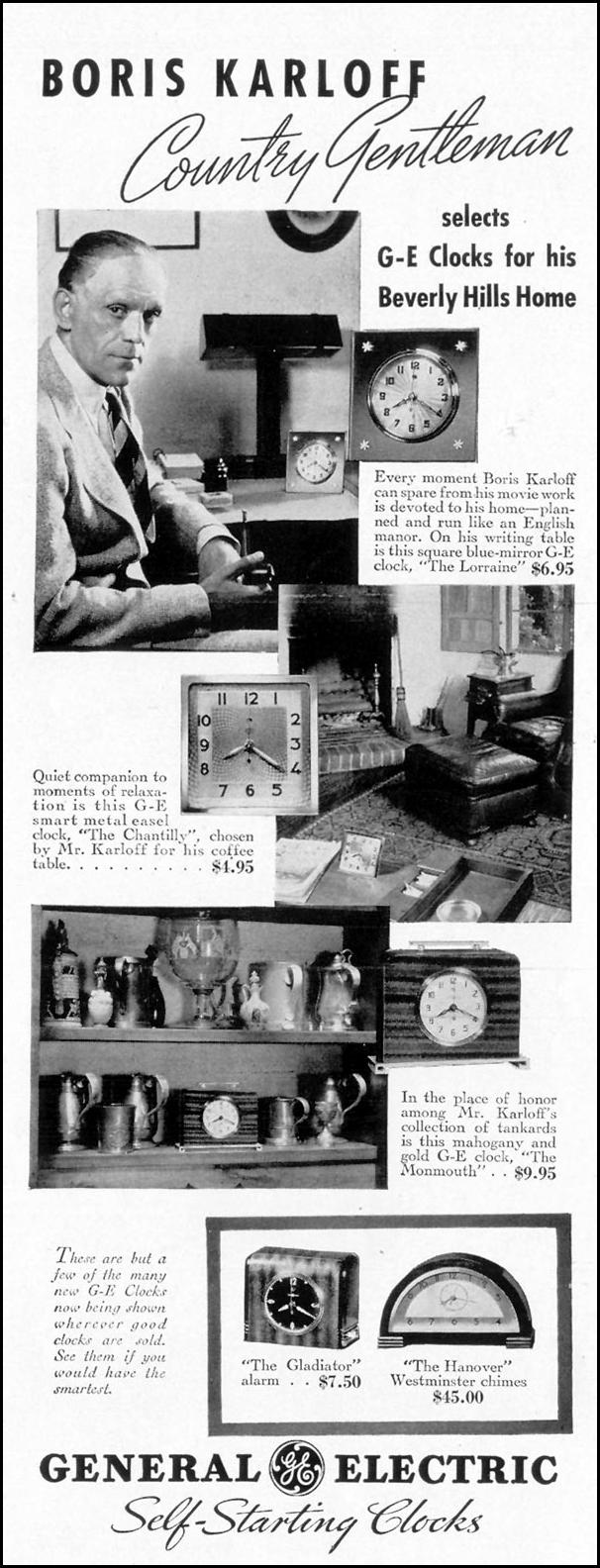 G. E. ELECTRIC CLOCKS LIFE 08/02/1937 p. 5