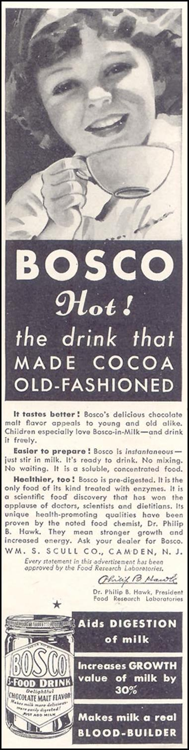 BOSCO GOOD HOUSEKEEPING 11/01/1933 p. 129