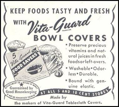 VITA-GUARD BOWL COVERS GOOD HOUSEKEEPING 07/01/1948 p. 158