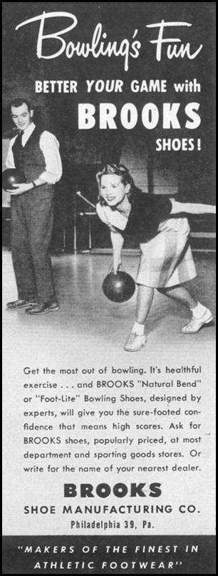 BROOKS BOWLING SHOES LIFE 10/11/1948 p. 92