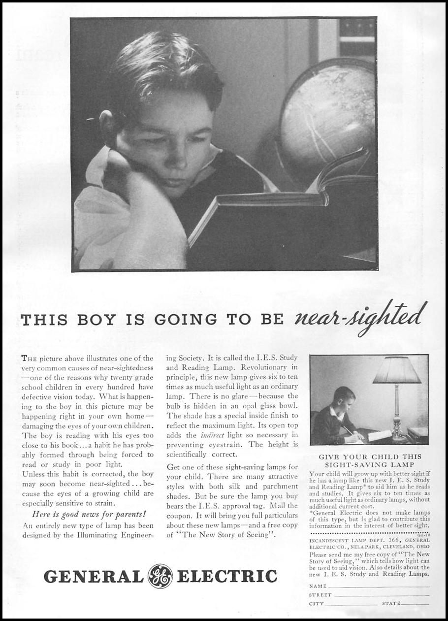 I. E. S. STUDY LAMP GOOD HOUSEKEEPING 12/01/1934 p. 13
