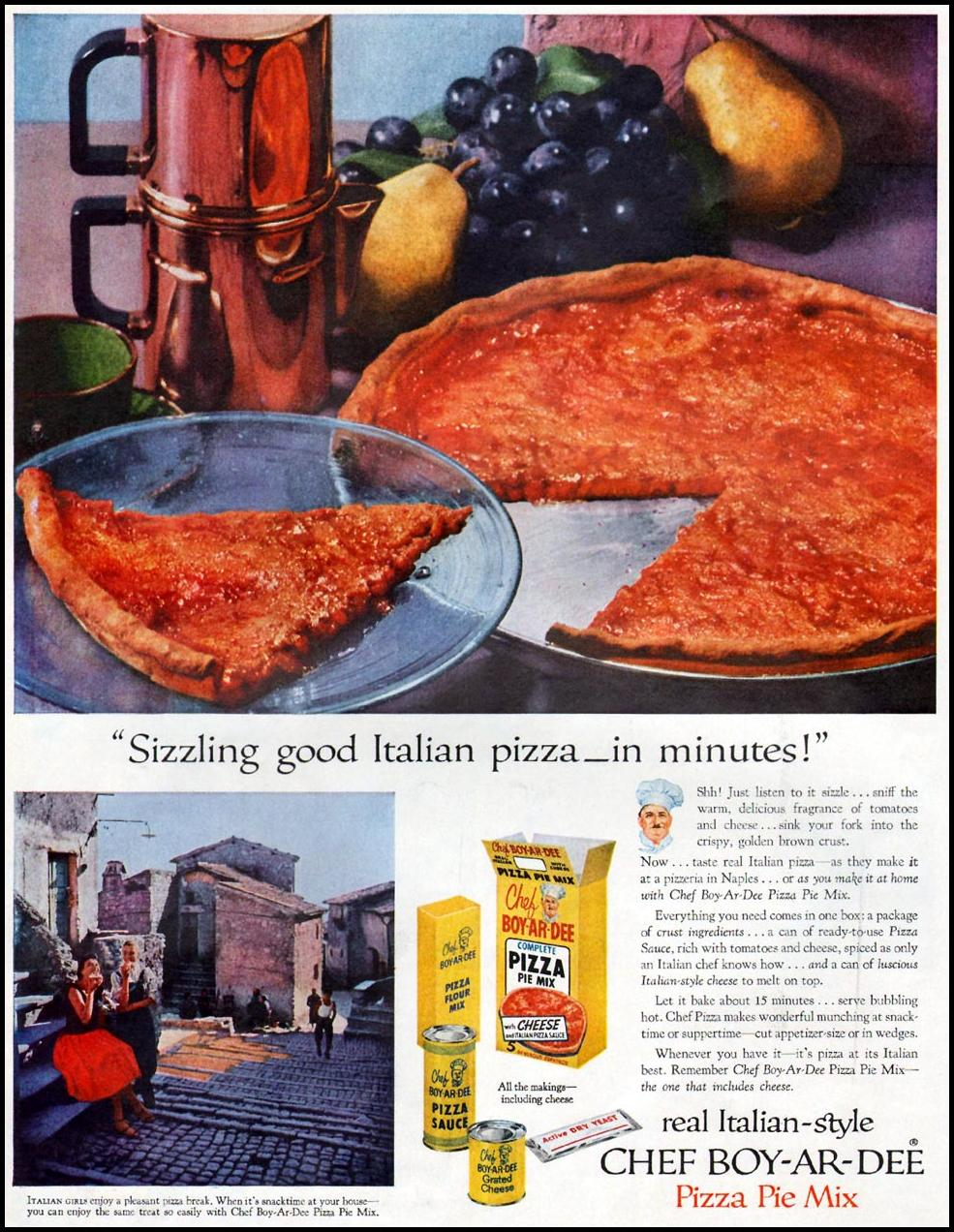CHEF BOY-AR-DEE PIZZA PIE MIX LIFE 09/09/1957 p. 74