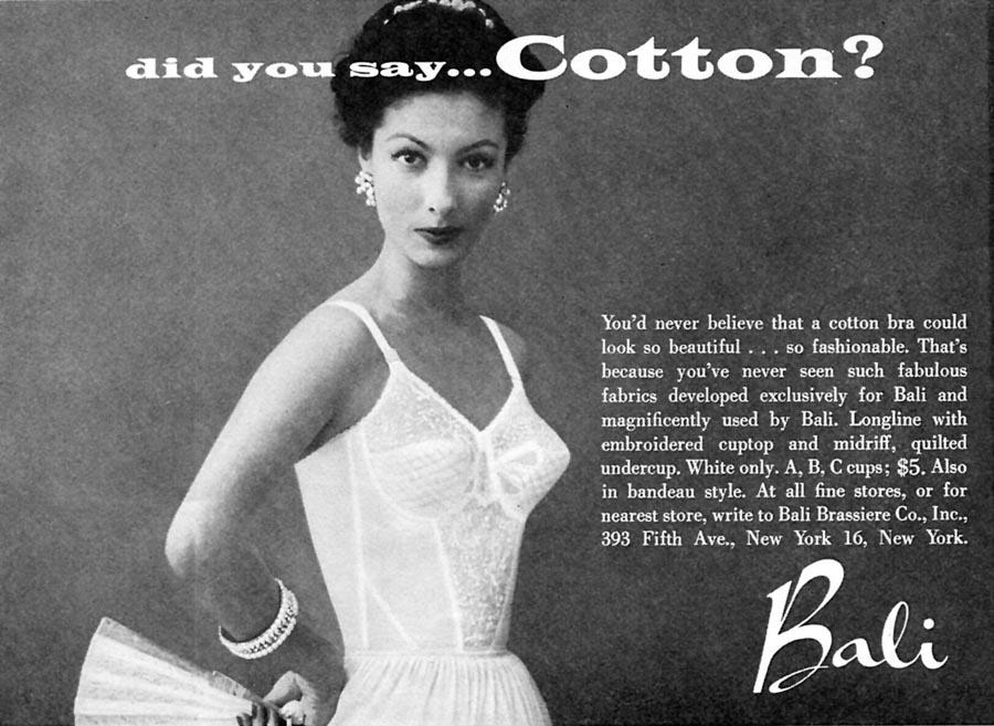 BALI LONGLINE BRA WOMAN'S DAY 04/01/1956 p. 99