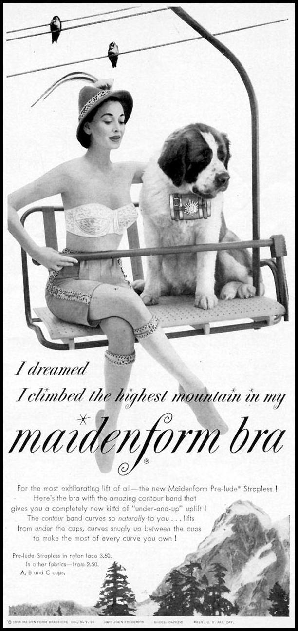 MAIDENFORM BRA WOMAN'S DAY 07/01/1955 p. 9