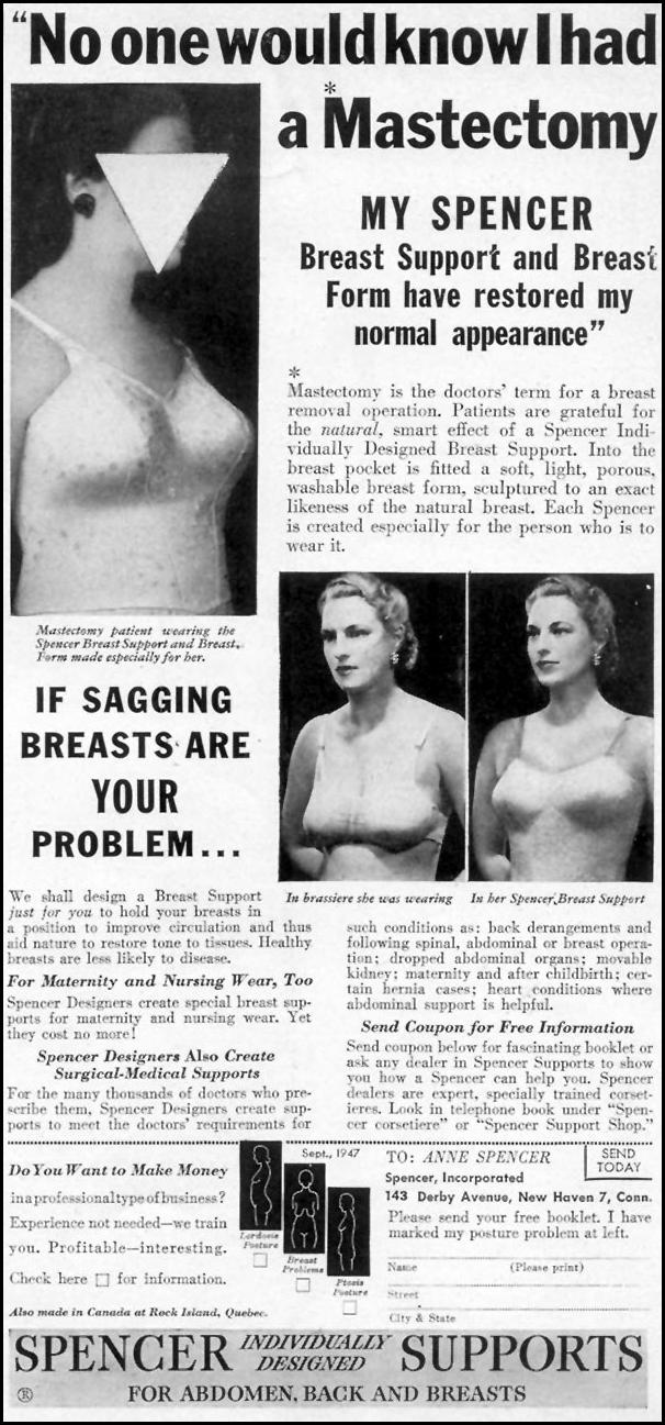 SPENCER SUPPORTS WOMAN'S DAY 09/01/1947 p. 15
