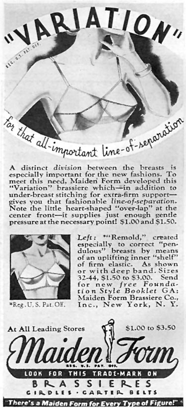 MAIDENFORM BRA GOOD HOUSEKEEPING 04/01/1936