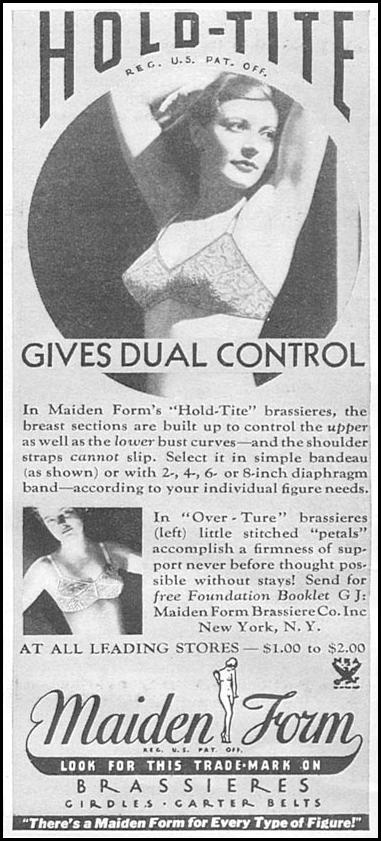 MAIDENFORM BRA GOOD HOUSEKEEPING 06/01/1935 p. 206