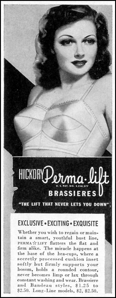 HICKORY PERMA-LIFT BRASSIERES LIFE 02/21/1944 p. 112