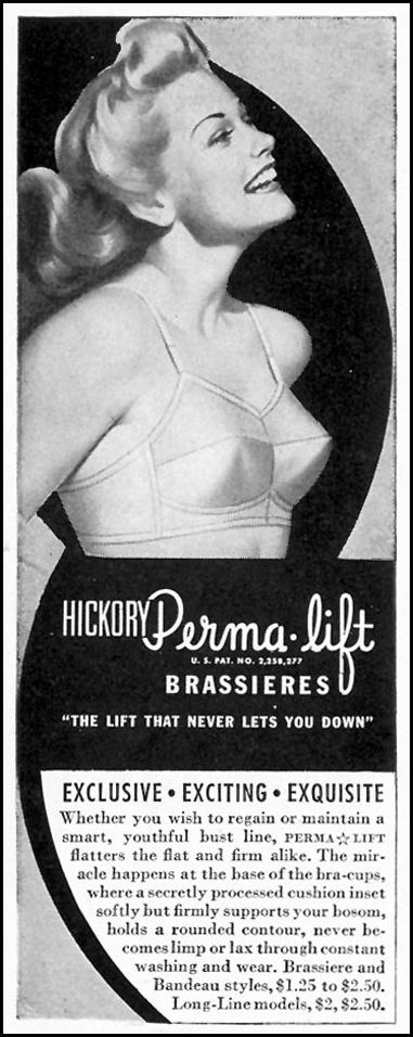 HICKORY PERMA-LIFT BRASSIERES LIFE 02/28/1944 p. 104