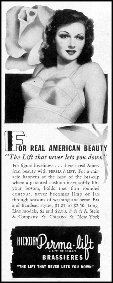 HICKORY PERMA-LIFT BRASSIERS LIFE 11/08/1943 p. 124