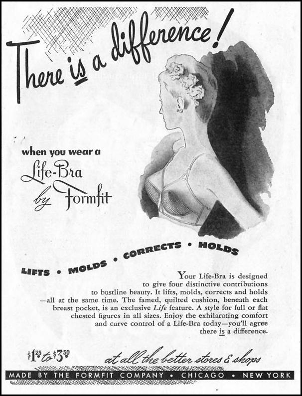 LIFE-BRA BY FORMFIT SATURDAY EVENING POST 10/06/1945 p. 75