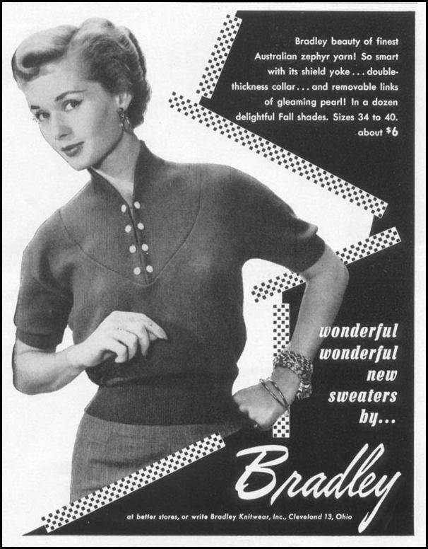 WOMEN'S SWEATERS LIFE 10/13/1952 p. 158