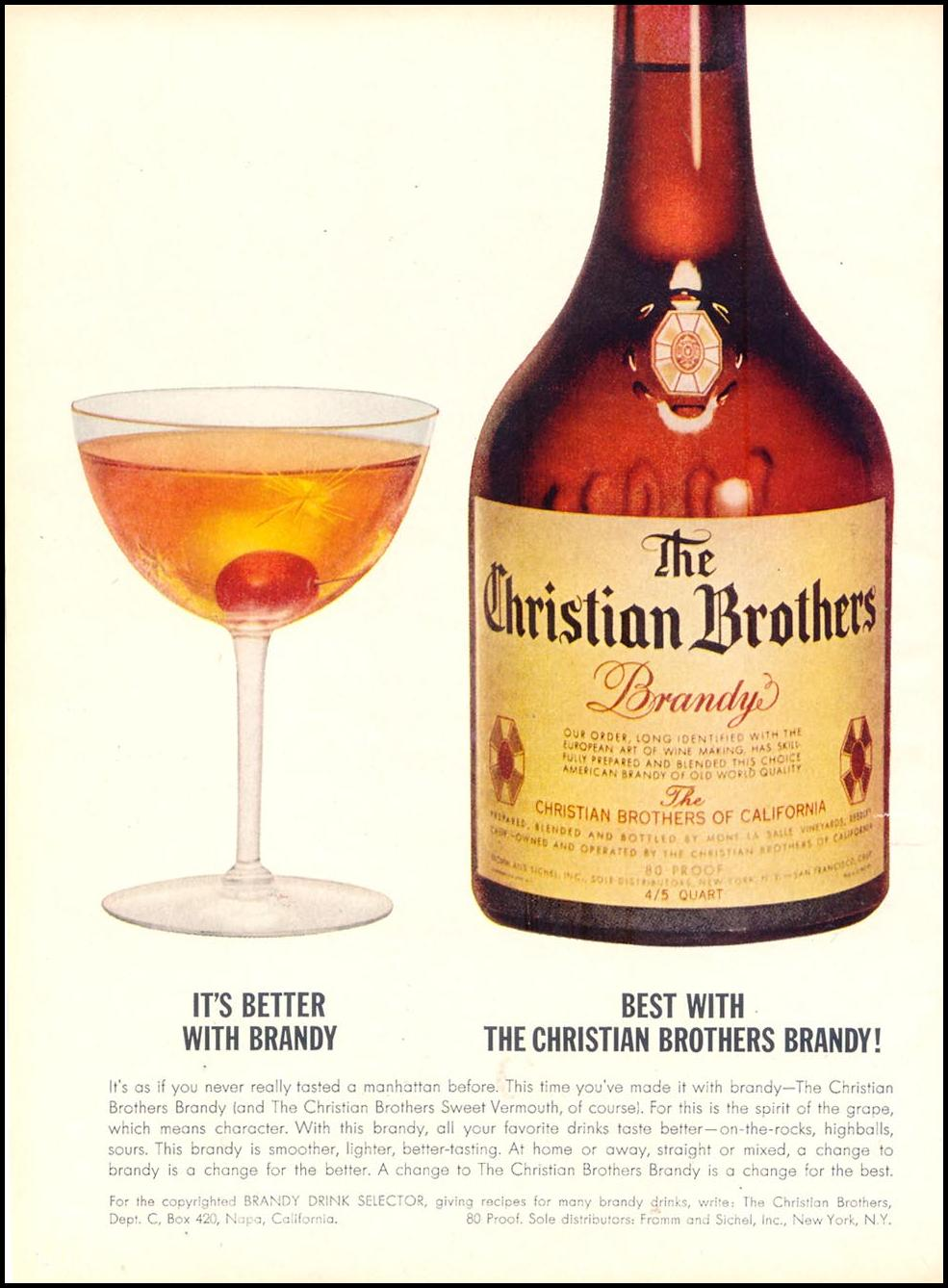 THE CHRISTIAN BROTHERS BRANDY TIME 12/07/1962 p. 56
