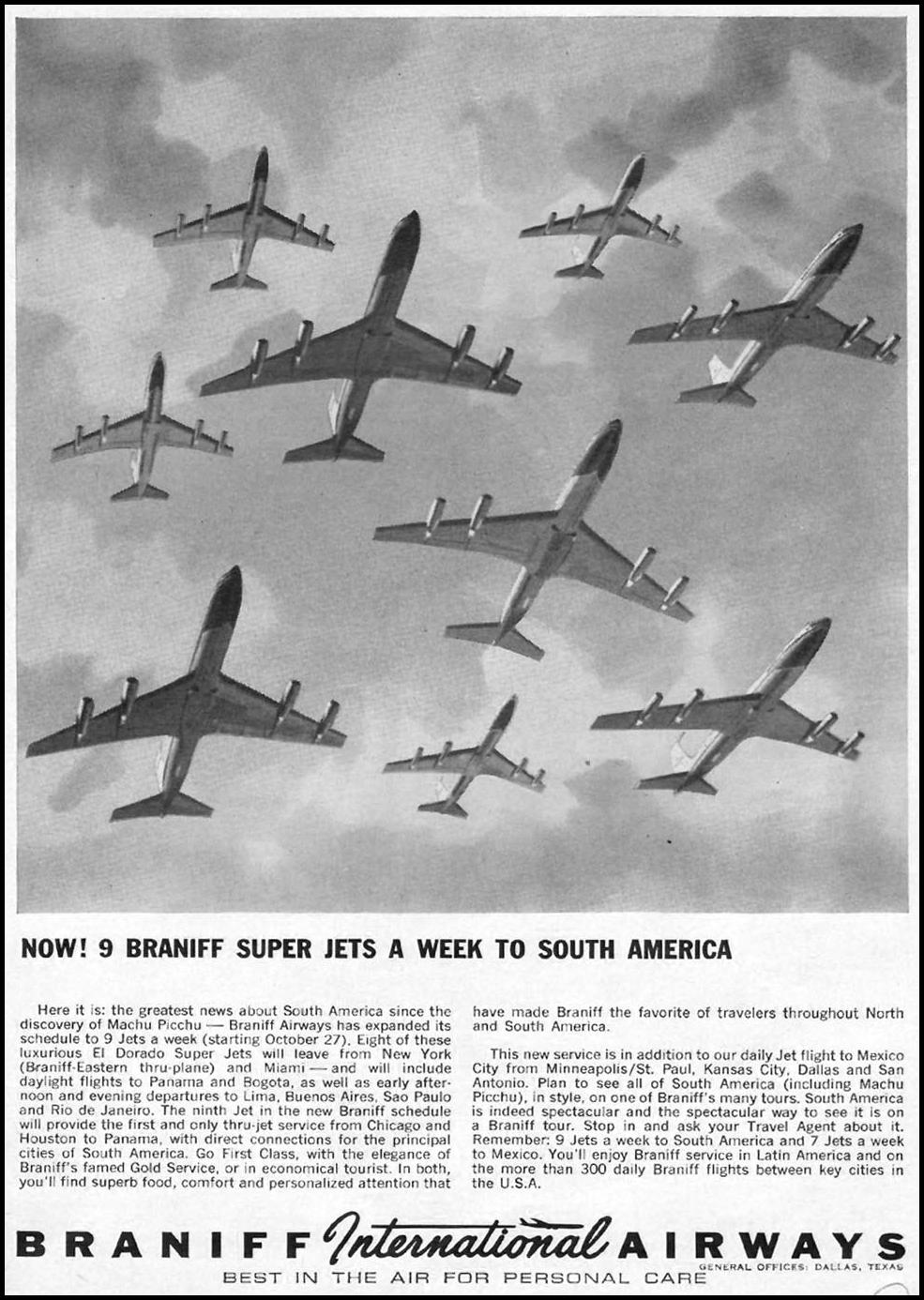 BRANIFF INTERNATIONAL AIRWAYS TIME 10/04/1963 p. 117
