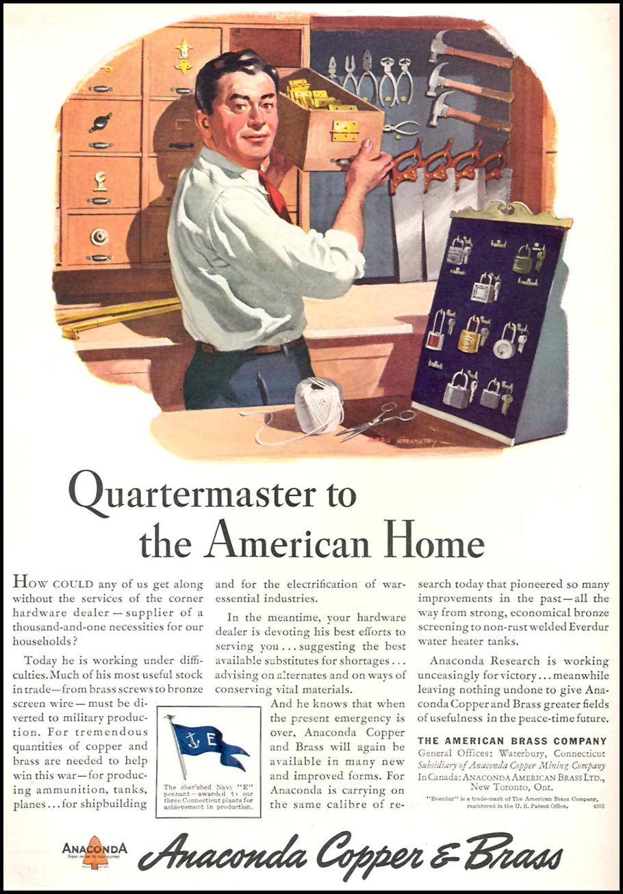 ANACONDA COPPER & BRASS TIME 06/15/1942 INSIDE FRONT