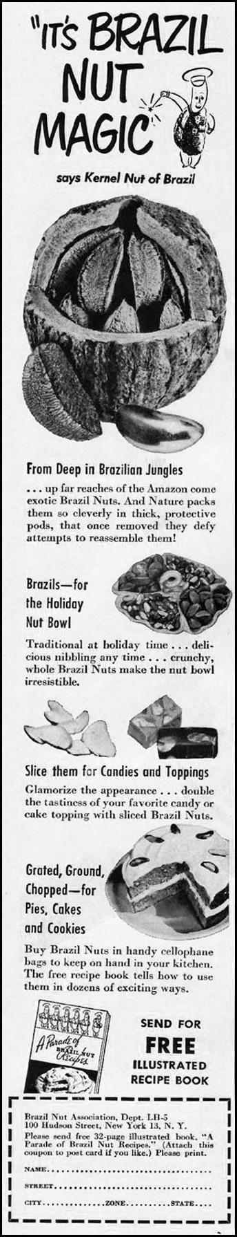BRAZIL NUTS LADIES' HOME JOURNAL 11/01/1950 p. 21