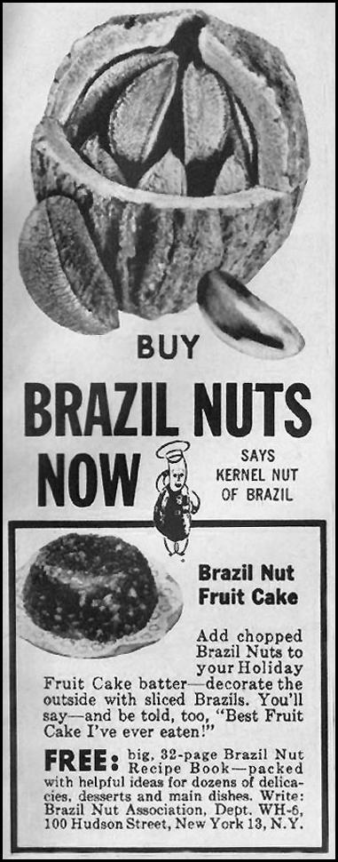 BRAZIL NUTS WOMAN'S HOME COMPANION 12/01/1952 p. 104