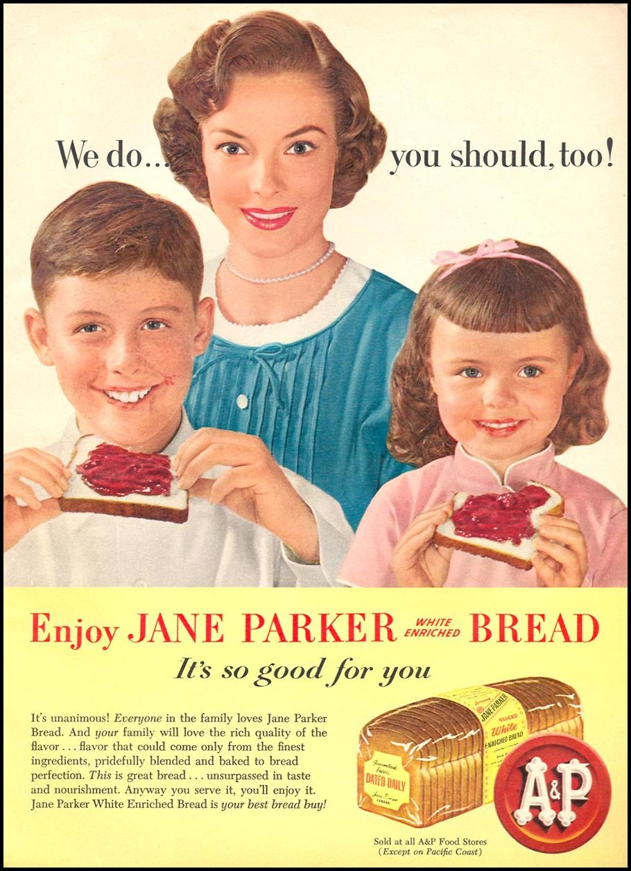 A & P JANE PARKER BREAD WOMAN'S DAY 06/01/1958 p. 23
