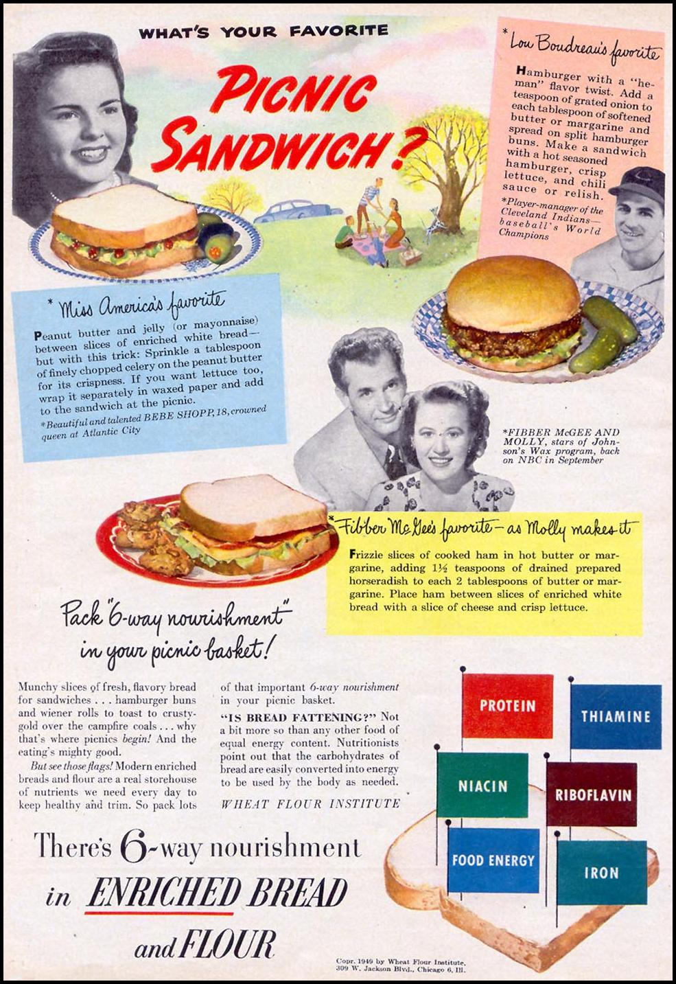 ENRICHED BREAD AND FLOUR WOMAN'S DAY 07/01/1949 p. 24