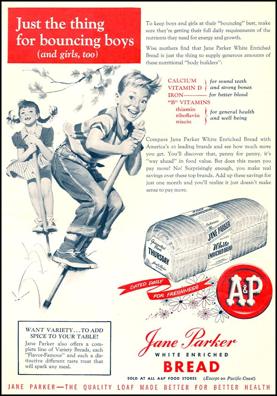 A & P JANE PARKER BREAD WOMAN'S DAY 09/01/1955 p. 95