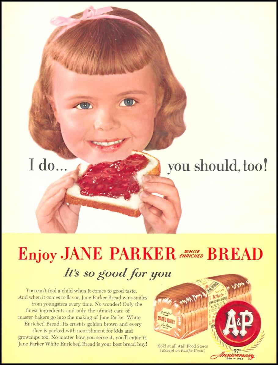 A & P JANE PARKER BREAD WOMAN'S DAY 10/01/1956