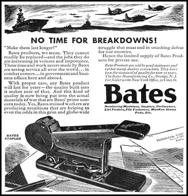 BATES STAPLERS TIME 11/02/1942 p. 50