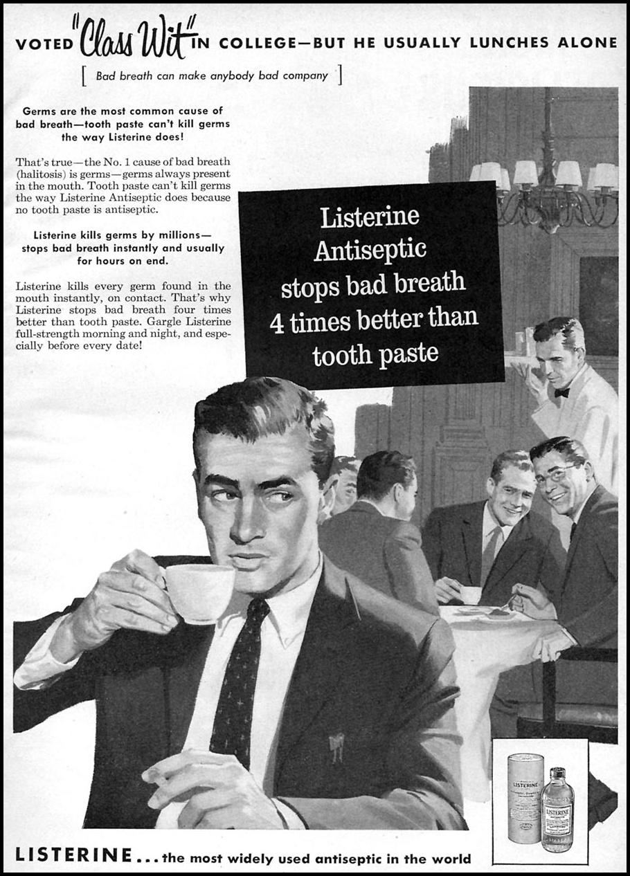 LISTERINE ANTISEPTIC FAMILY CIRCLE 11/01/1957 p. 1