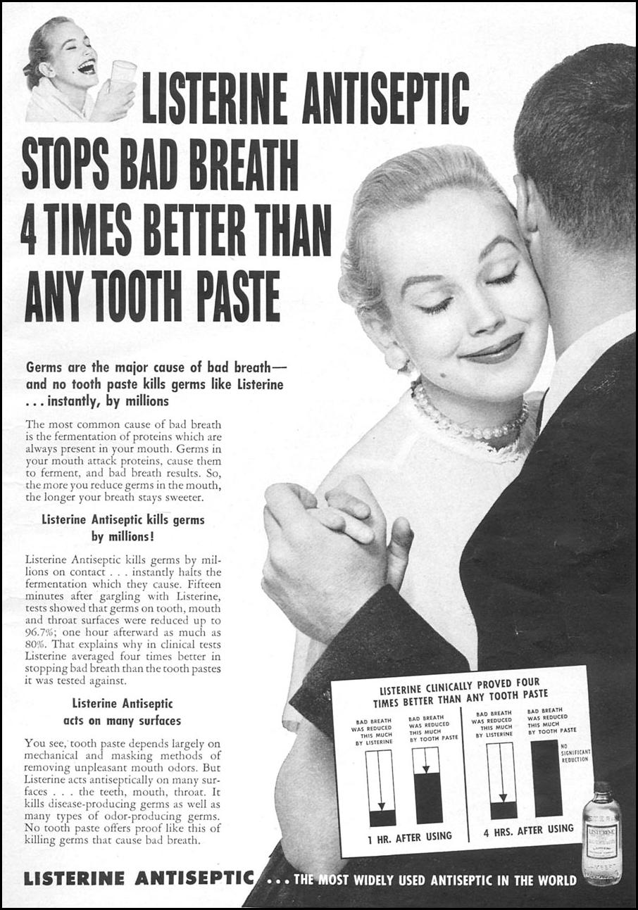 LISTERINE ANTISEPTIC WOMAN'S DAY 04/01/1956 p. 3