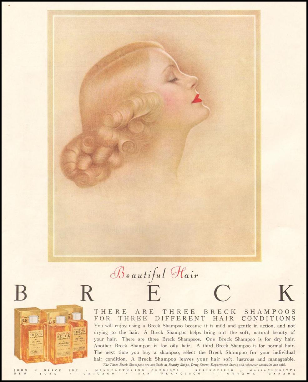 BRECK SHAMPOO LADIES' HOME JOURNAL 03/01/1954 p. 132
