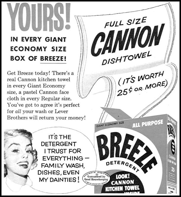 BREEZE DETERGENT FAMILY CIRCLE 02/01/1956 p. 52