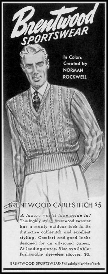 BRENTWOOD SPORTSWEAR LIFE 10/13/1941 p. 26