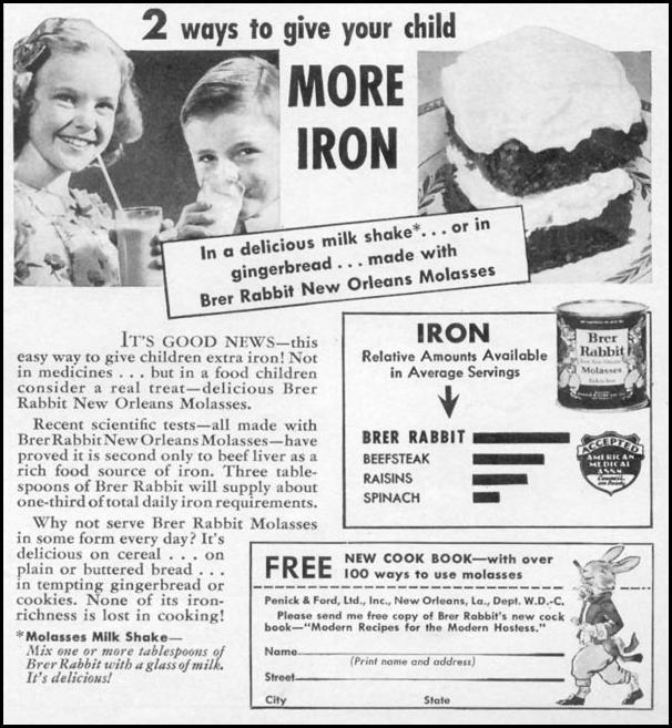 BRER RABBIT MOLASSES WOMAN'S DAY 06/01/1941 p. 63