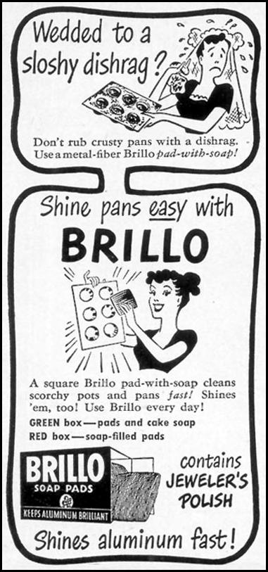 BRILLO SOAP PADS WOMAN'S DAY 01/01/1949 p. 94