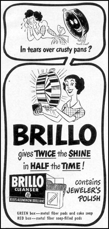 BRILLO SOAP PADS WOMAN'S DAY 02/01/1950 p. 148