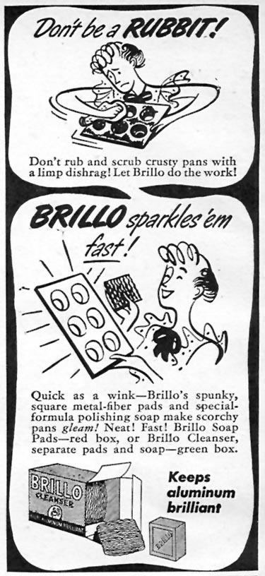 BRILLO SOAP PADS WOMAN'S DAY 05/01/1946 p. 76